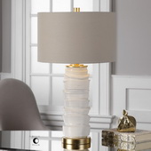 Codru Gloss White Ceramic Lamp