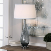 Serano Gray Glass Table Lamp - LUT6061