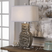 Clavin Stack Textured Table Lamp - LUT6063