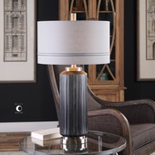 Akila Charcoal Glass Table Lamp - LUT6079