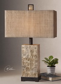 Rustic Mother Of Pearl Table Lamp  - LUT6998