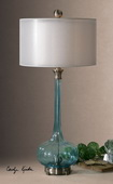 Junelle Blue Glass Table Lamp  - LUT2968