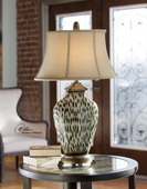 Malawi Cheetah Print Table Lamp  - LUT2978