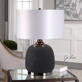 Charna Charcoal Ceramic Table Lamp - LUT6091