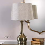 Balle Antiqued Brass Table Lamp - LUT6117