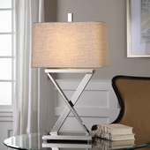 Xavier Nickel Table Lamp - LUT6145