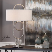 Vaaler Brushed Nickel Table Lamp - LUT6155