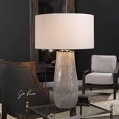 Balkana Aged Gray Table Lamp - LUT6161