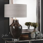 Vrana Dark Gray Table Lamp - LUT6165