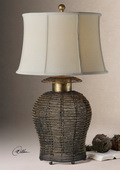 Rickma Woven Metal Table Lamp  - LUT3096