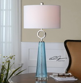 Navier Blue Glass Table Lamp  - LUT7019
