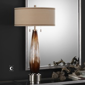 Garonne Amber & Ivory Table Lamp  - LUT6181