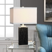 Pravus Black Slate Table Lamp - LUT6187