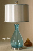 Meena Blue Glass Table Lamp  - LUT7029