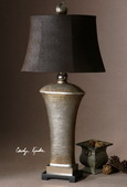 Afton Antique Silver Table Lamp  - LUT7037