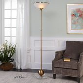 Laton Brushed Brass Floor Lamp
