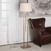 Kingsley Brushed Brass Floor Lamp
