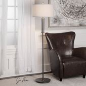 Coeburn Rustic Black Floor Lamp