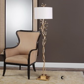 Bede Metallic Gold Floor Lamp