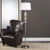 Galatsi Ribbed Mercury Glass Floor Lamp