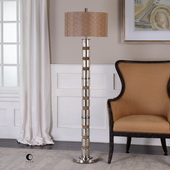 Cerreto Mercury Glass Floor Lamp - LUT6251