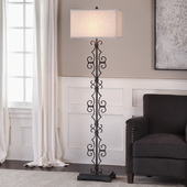 Adelardo Rust Bronze Floor Lamp - LUT6259