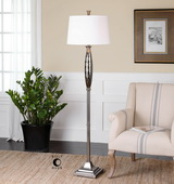 Tanaro Grooved Glass Floor Lamp - LUT2755