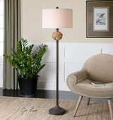 Higgins Rope Sphere Floor Lamp - LUT2759