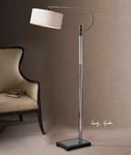 Adara Glass and Chrome Floor Lamp  - LUT7060