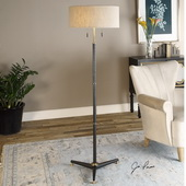 Levice Rust Black Floor Lamp - LUT2777