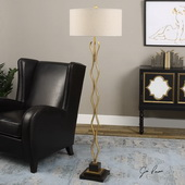 Sottana Antiqued Gold Floor Lamp - LUT2779