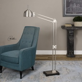 Amado Brushed Nickel Floor Lamp - LUT2791