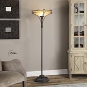 Verduno Rust Black Floor Lamp - LUT2797