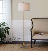 Laton Brass Sphere Floor Lamp  - LUT7071