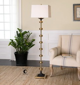 Santona Brushed Brass Floor Lamp - LUT2799