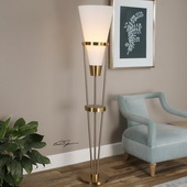 Bergolo Brushed Brass Floor Lamp - LUT2805