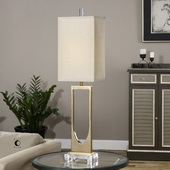 Genivolta Brushed Brass Lamp - LUT2849