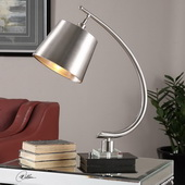 Azzanello Brushed Nickel Lamp - LUT2853