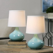 Gabbiano Pale Blue Lamps S/2 - LUT2857