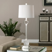 Bordolano Polished Nickel Buffet Lamp - LUT2861
