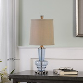 Aubin Blue Glass Buffet Lamp