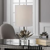 Silver Lotus Accent Lamp - LUT6303