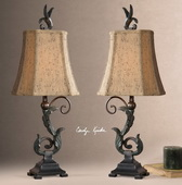 Caperana Black Buffet Lamps   - LUT3620