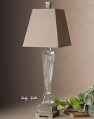 Canino Mercury Glass Pillar Table Lamp  - LUT7078