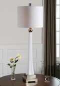 Boretto White Glass Lamp  - LUT7080