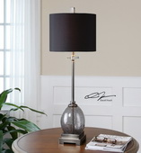 Denia Gray Glass Table Lamp  - LUT7088