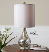 Girona Mercury Glass Table Lamp  - LUT7089