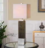 Jernigan Bronze Glass Table Lamp - LUT2869