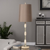 Richland Ivory Marble & Brass Lamp - LUT2875