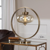Namura Antiqued Brass Accent Lamp - LUT6313